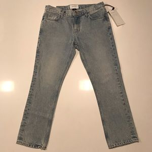 Current Elliot cropped straight jean